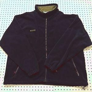 Columbia Fleece Zip Up Jacket, Size XXL
